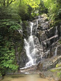 夏,絶景,滝,涼しい,糸島,白糸の滝,福岡県