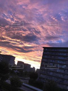 空,雲,夕焼け,夕暮れ,夕陽