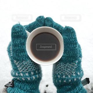寒い日には温かい飲み物の写真・画像素材[1820397]