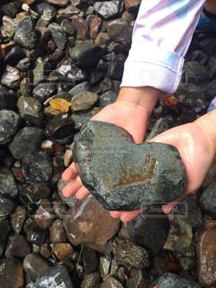 屋外,ハート,石,キュート,川遊び,ハートの形の石