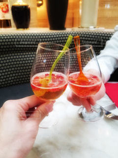 苺のカクテルの写真・画像素材[1443657]