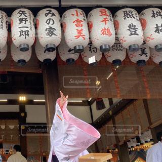 京都 八坂神社 豆まきの写真・画像素材[2930899]