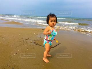 子ども,風景,海,夏,青,水着,子供,可愛い,blue