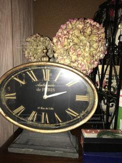 インテリア,部屋,アンティーク,時計,紫陽花