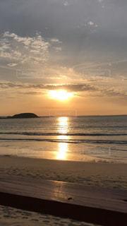 自然,海,空,夕日