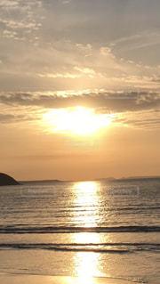 自然,海,空,夕日,屋外