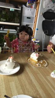 ケーキ,子供,美味しい