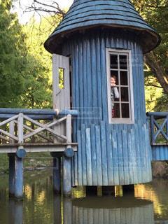 川に架かる橋の写真・画像素材[1033408]