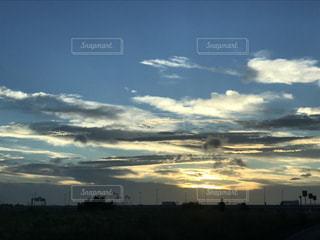 風景,空,雲,夕焼け,夕暮れ