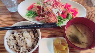 ランチ,肉,美味しい,唐揚げ,お米,甘酢和え