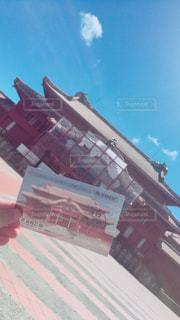 工事中の首里城の写真・画像素材[904451]