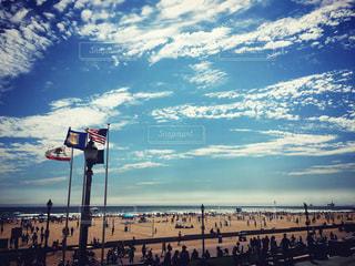 風景,海,空,夏,ビーチ,アメリカ,観光,留学