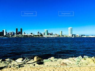 風景,空,夏,ビル,海外,アメリカ,観光,対岸