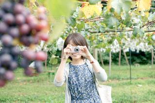 小さな女の子が携帯電話で話しています。の写真・画像素材[764250]
