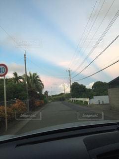 空,綺麗,夕焼け,ドライブ