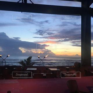 自然,海,南国,夕焼け,グアム