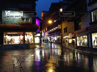 雨のツェルマットの写真・画像素材[817293]
