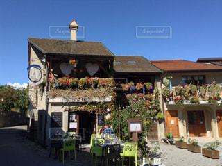 フランスの田舎町での写真・画像素材[1138516]