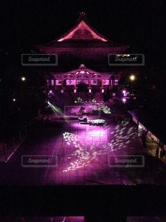 善光寺のライトアップの写真・画像素材[1710159]