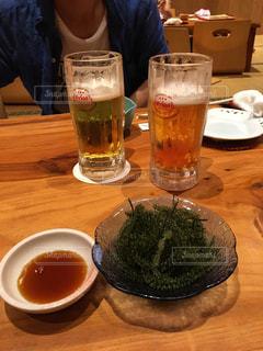 沖縄 海ぶどうとビール