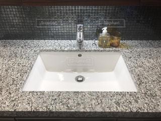 タイル,大理石,洗面台,わが家の洗面台