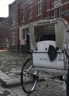 門司港レトロの人力車の写真・画像素材[773259]