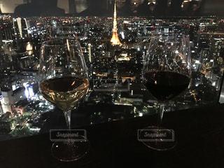 東京タワーとワインの写真・画像素材[780209]