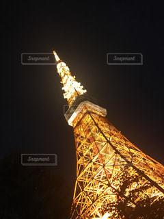 夜の東京タワーの写真・画像素材[2719300]