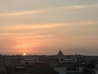空,夕日,海外,太陽,夕暮れ,ローマ,光,イタリア,夕陽,サンセット,バチカン