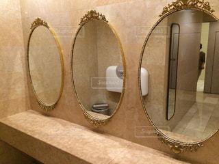 インテリア,鏡,ホテル,トイレ,ミラー,ゴージャス,お手洗い,パウダールーム