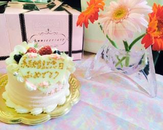 花のように作られたケーキの写真・画像素材[842458]