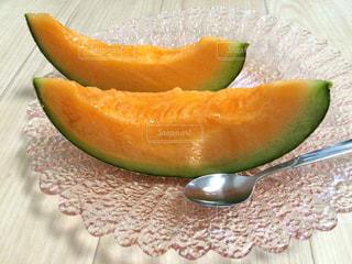 フルーツ,果物,メロン,富良野メロン,ガラスの皿