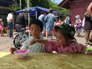 子ども,夏休み,かき氷,祭,カキ氷