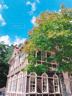 晴れた日の旧三笠ホテルの写真・画像素材[1095214]