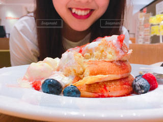 夏,パンケーキ,癒し,笑顔,おいしい,美味しい,思い出