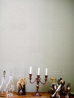 インテリア,ガラス,フォーク,スプーン,ボトル,グラス,おしゃれ,整理,ロウソク,燭台