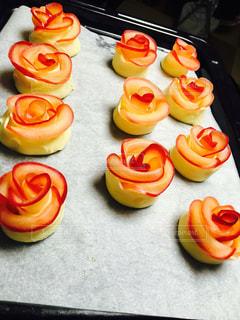 バラ,フルーツ,手作り,アップルパイ,オーブン,リンゴ