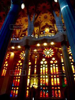 クロック タワーは夜ライトアップの写真・画像素材[914661]