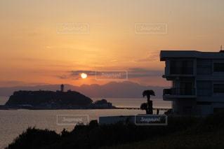 海,空,夕日,雲,綺麗,江ノ島
