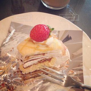 カフェ,ケーキ,いちご,苺,休憩,お茶,ミルフィーユ,ブレイク