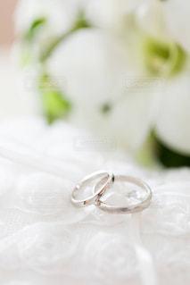 結婚指輪とブーケ - No.1231336