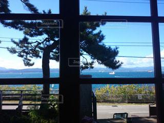 カフェ,海,景色,窓辺,函館,オーシャンビュー,ティーショップ夕日
