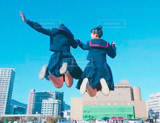 夢へジャンプの写真・画像素材[1600014]