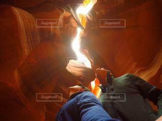 燃えている男の写真・画像素材[800126]