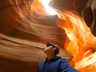 燃えている男の写真・画像素材[1002012]