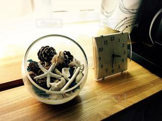 インテリア,夏,リビング,木,貝殻,時計,窓辺,温もり,シェル