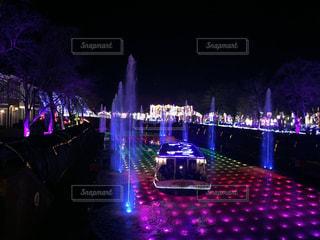 夜景,ボート,船,イルミネーション,ライトアップ,噴水,長崎,ハウステンボス