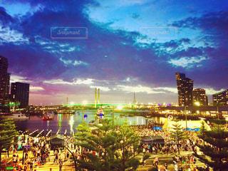 橋,夜景,ビル,海外,人,旅行,港,オーストラリア,メルボルン,おしゃれ