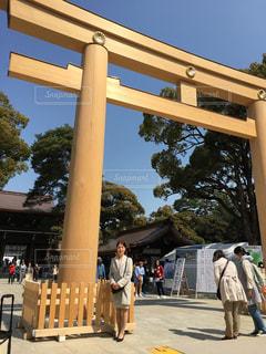 明治神宮  鳥居  東京の写真・画像素材[587281]
