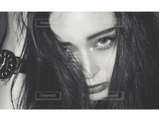 モデル,白黒,撮影,アップ,目